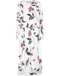 Marni Floral Cotton Poplin Midi Dress - White