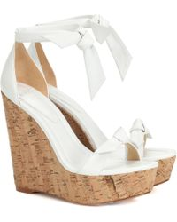 Alexandre Birman Exclusive To Mytheresa – 120 Leather Wedge Sandals - White