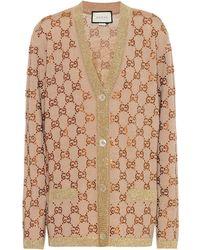 Gucci Verzierter Cardigan aus Wolle - Natur