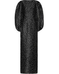 Rasario Polka-dot Silk-twill Gown - Black
