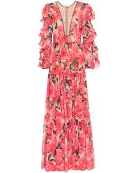 Costarellos Floral Gown - Red