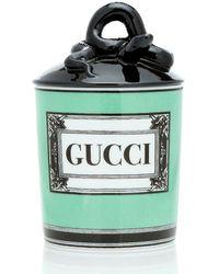 Gucci Candela Herbosum con logo - Verde