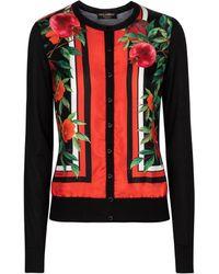 Dolce & Gabbana Exclusivo en Mytheresa – cárdigan de seda y cachemir - Rojo