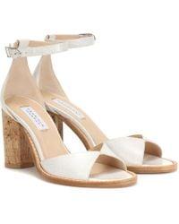 Gabriela Hearst Adi Leather And Cork Sandals - Natural