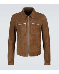 Tom Ford Exclusivo en Mytheresa - chaqueta blusón de ante con cremallera - Marrón