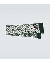 Prada Bufanda de lana y cachemir de jacquard - Verde