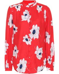 Equipment - Leema Floral Silk Shirt - Lyst