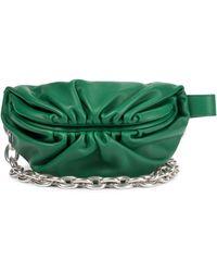 Bottega Veneta Schultertasche Chain Pouch aus Leder - Grün
