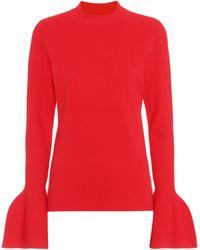 Diane von Furstenberg - Flutter Sleeve Sweater - Lyst