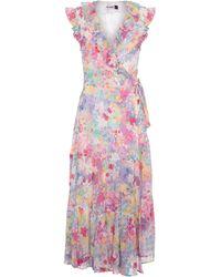 RIXO London Minnie Floral Silk Wrap Dress - Pink