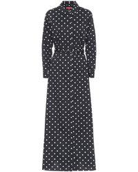 STAUD Daisy Polka-dot Cotton Maxi Dress - Black