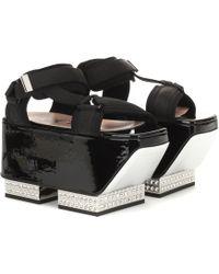 Gucci Crystal-embellished Platform Sandals - Black