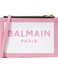 Balmain B-army Crossbody Bag - Pink