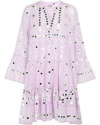 Juliet Dunn Exclusivité Mytheresa – Robe en coton à sequins - Violet