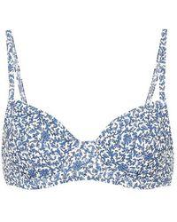 Tory Burch Top bikini a stampa floreale - Blu