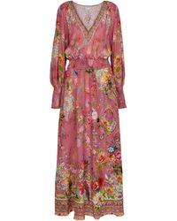 Camilla Embellished Printed Silk Maxi Dress - Multicolour