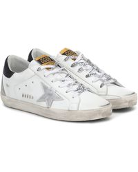 Golden Goose Deluxe Brand - Superstar W5 Leather Trainers - Lyst