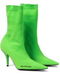 Balenciaga Ankle Boots Knife - Grün