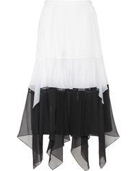 Chloé - Asymmetric Midi Skirt - Lyst
