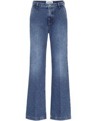 Loewe High-rise Flared Jeans - Blue
