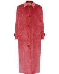 Giuliva Heritage Collection Manteau Maria en velours côtelé - Rouge