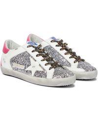 Golden Goose Deluxe Brand Superstar Glitter Sneakers - Metallic