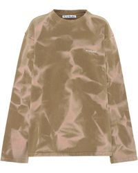 Acne Studios Tie-dye Cotton Sweatshirt - Brown