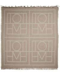 Totême Bufanda Logo de lana y cachemir - Marrón