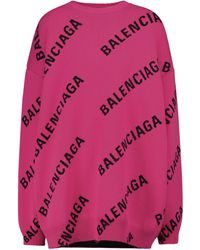 Balenciaga Pullover aus einem Wollgemisch - Pink