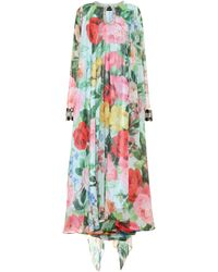 Richard Quinn Embellished Floral Chiffon Gown - Multicolour
