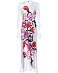 Marni Robe longue à fleurs - Blanc