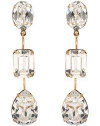 Jennifer Behr Ohrringe Allanah mit Kristallen - Weiß