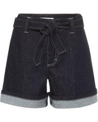 Chloé High-rise Denim Shorts - Blue
