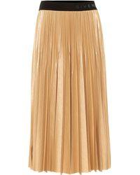 Givenchy Falda midi plisada de lamé - Metálico