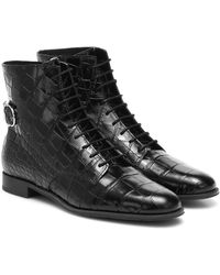 Tod's Bottines en cuir embossé - Noir