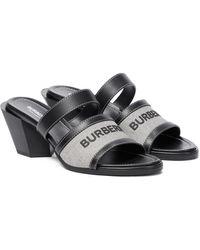 Burberry Mules en cuir - Noir