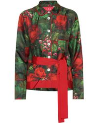 F.R.S For Restless Sleepers - Agon Printed Silk Shirt - Lyst