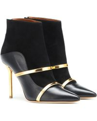 Malone Souliers Madison 100 Suede Ankle Boots - Black