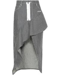 Off-White c/o Virgil Abloh - Ruffled Denim Skirt - Lyst