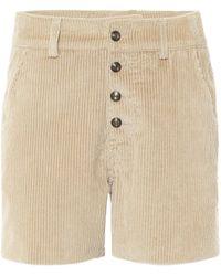 Etro Shorts aus Cord - Natur
