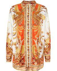 Zimmermann Brightside Printed Silk-twill Shirt - Metallic