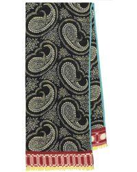 Etro Bufanda de cachemir print paisley - Multicolor