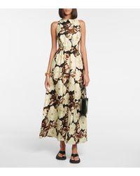 Sir. The Label Vivienne Silk Maxi Dress - Brown