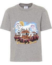 Vetements Camiseta de algodón estampada - Gris