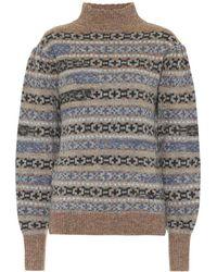 Étoile Isabel Marant Pullover Ned in lana a intarsio - Grigio