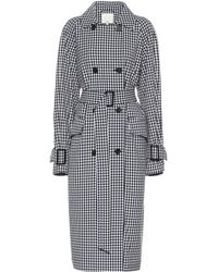Tibi Gingham Coat - Black