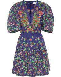 Givenchy - Vestido corto de popelín de algodón - Lyst