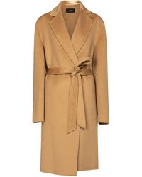 JOSEPH Cenda Wool And Cashmere Belted Coat - Natural