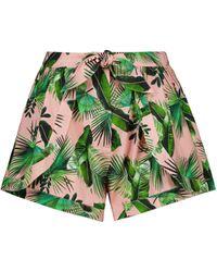 Alexandra Miro Exclusive To Mytheresa – Claudia Printed Cotton Shorts - Green