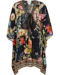 Camilla Caftán de seda estampado - Multicolor